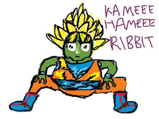 A Kamehameha frog