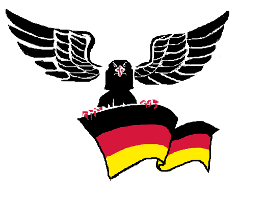 A bird holding a flag