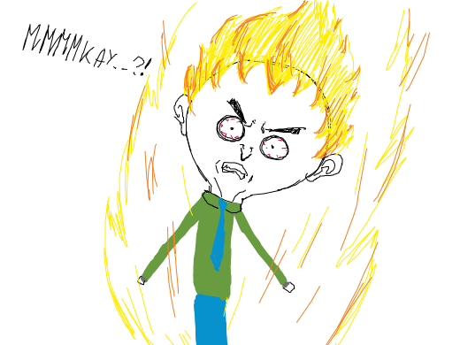 Angry Mmmkay guy from south park with longer hair and without glasses