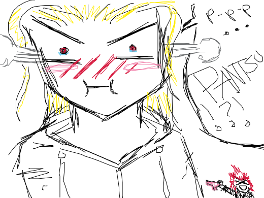 larxene is very angry with axel. Probably he stole her underwear