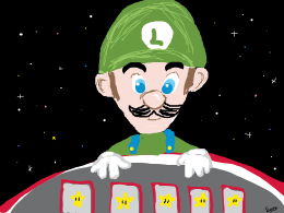 Luigi's poker table
