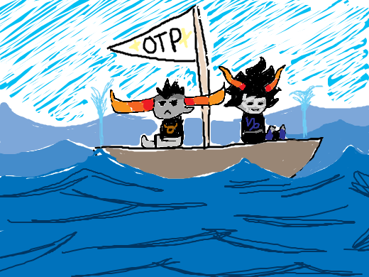 your otp sinking very, very low into the ocean