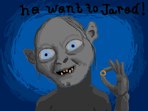 Smeagol Holds Up A Ring He Went To Jared So Lucky