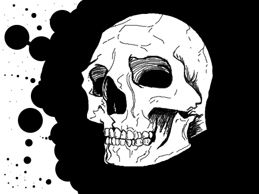 Poorly drawn skull