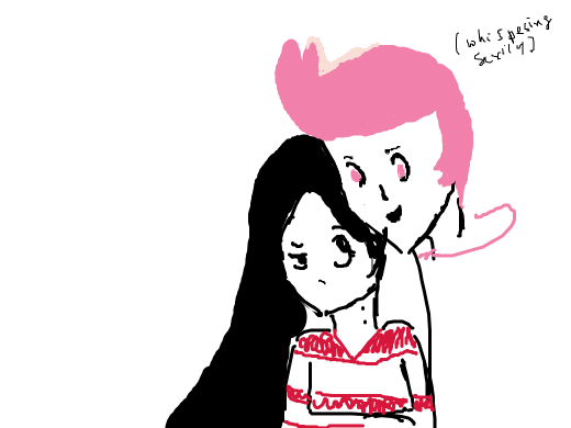 prince bblgum whispering sexily into marcy's ear