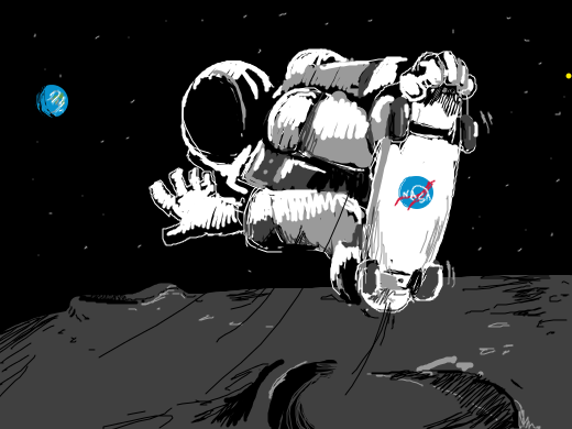 astronaut skateboarding - photo #2