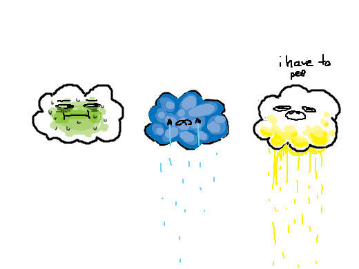 its kind of green. with some blue. and yellow. like the clouds are feeling very ill tonight or something.