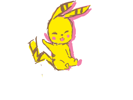 Pikachu with a front butt