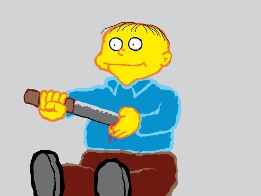 Ralph committing seppuku