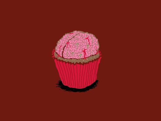 cupcake zombie brains