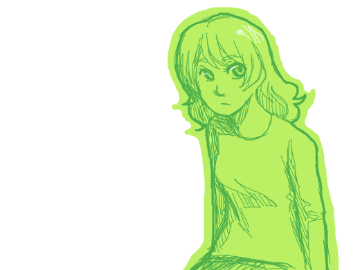 green anime bitch