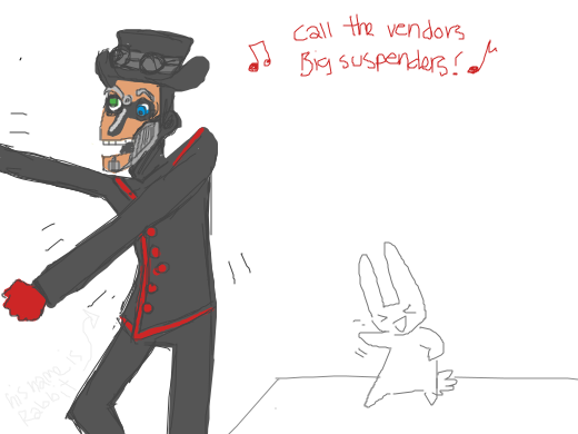 A rabbit dancing to some funky tunes